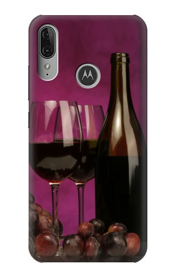 Printed Red Wine Motorola Moto E6 Plus Case
