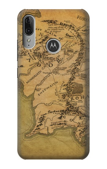 Printed The Lord Of The Rings Middle Earth Map Motorola Moto E6 Plus Case