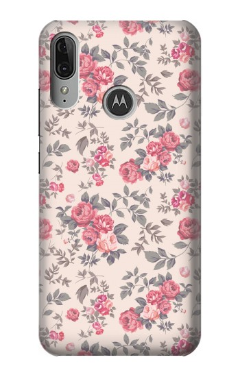 Printed Vintage Rose Pattern Motorola Moto E6 Plus Case