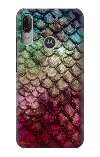 Printed Mermaid Fish Scale Motorola Moto E6 Plus Case