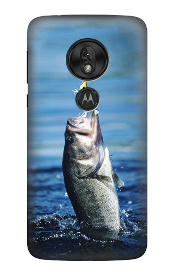 Printed Bass Fishing Motorola Moto G7 Play Case