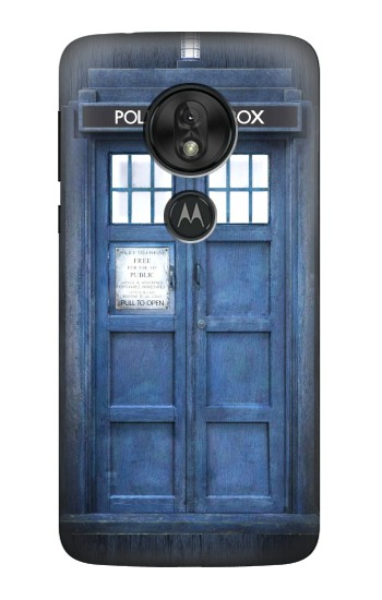 Printed Doctor Who Tardis Motorola Moto G7 Play Case