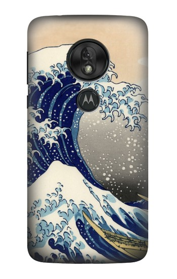 Printed Katsushika Hokusai The Great Wave off Kanagawa Motorola Moto G7 Play Case