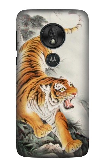 Printed Chinese Tiger Tattoo Painting Motorola Moto G7 Play Case