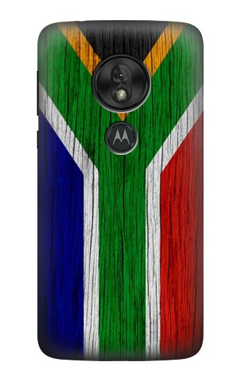 Printed South Africa Flag Motorola Moto G7 Play Case