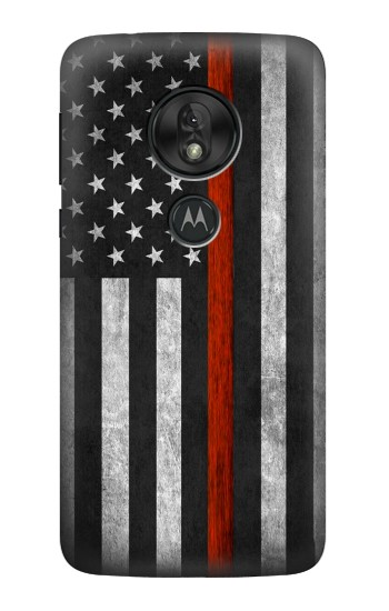 Printed Firefighter Thin Red Line Flag Motorola Moto G7 Play Case