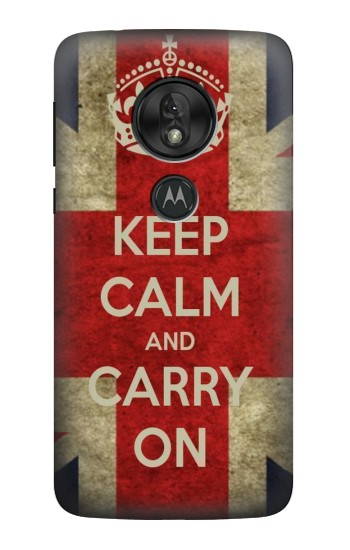 Printed Keep Calm and Carry On Motorola Moto G7 Power Case