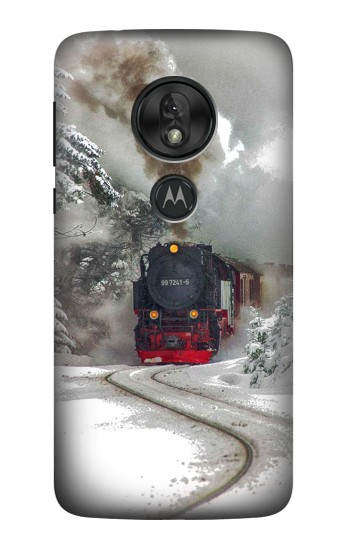 Printed Steam Train Motorola Moto G7 Power Case