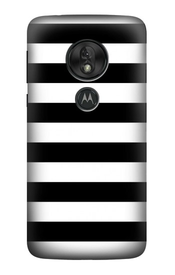 Printed Black and White Striped Motorola Moto G7 Power Case