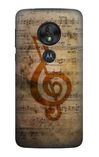 Printed Sheet Music Notes Motorola Moto G7 Power Case