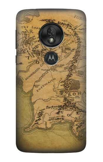 Printed The Lord Of The Rings Middle Earth Map Motorola Moto G7 Power Case