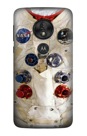 Printed Neil Armstrong White Astronaut Spacesuit Motorola Moto G7 Power Case