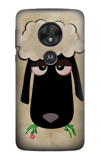 Printed Cute Cartoon Unsleep Black Sheep Motorola Moto G7 Power Case