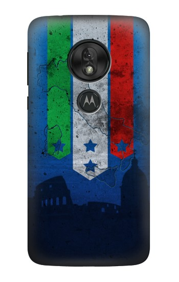 Printed Italy Football Flag Motorola Moto G7 Power Case