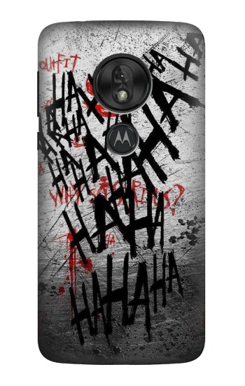 Printed Joker Hahaha Blood Splash Motorola Moto G7 Power Case