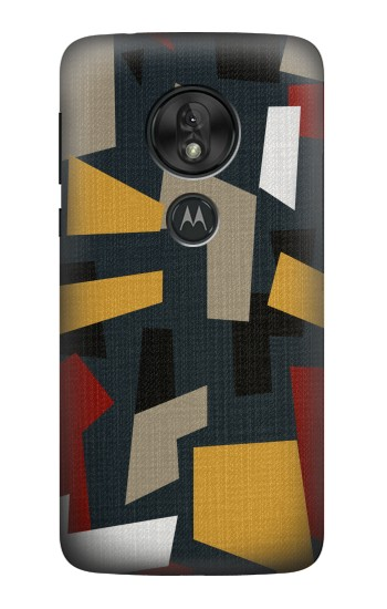 Printed Abstract Fabric Texture Motorola Moto G7 Power Case