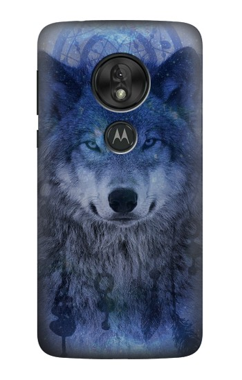 Printed Wolf Dream Catcher Motorola Moto G7 Power Case