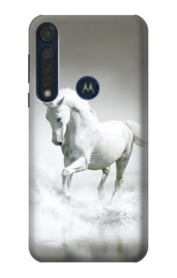 Printed White Horse Motorola Moto G8 Plus Case