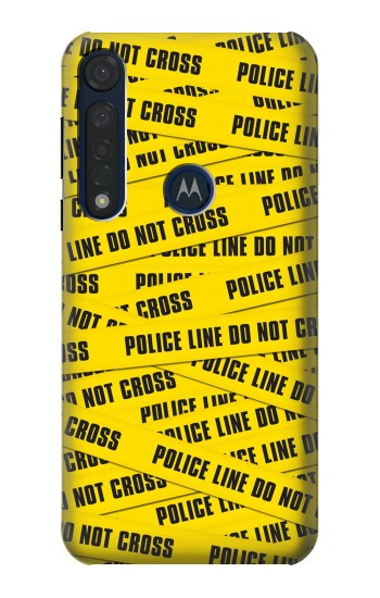 Printed Police Line Do Not Cross Motorola Moto G8 Plus Case