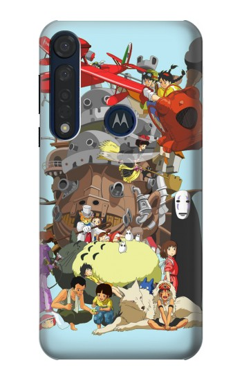 Printed Totoro Mononoke and Friends Motorola Moto G8 Plus Case