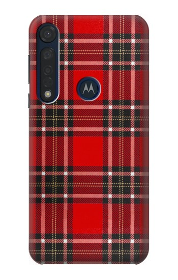 Printed Tartan Red Pattern Motorola Moto G8 Plus Case