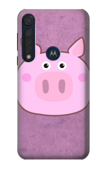 Printed Pig Cartoon Motorola Moto G8 Plus Case