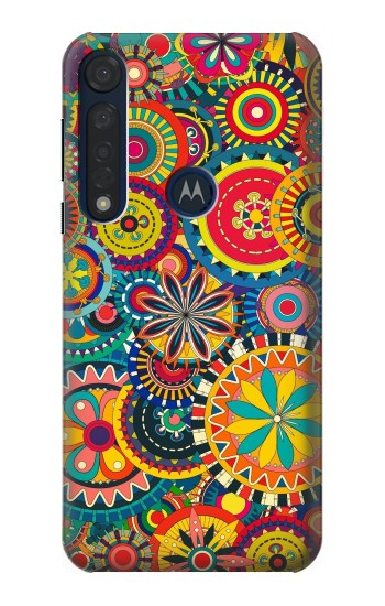Printed Colorful Pattern Motorola Moto G8 Plus Case