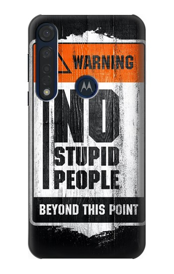 Printed No Stupid People Motorola Moto G8 Plus Case