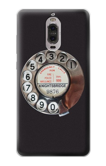 Printed Retro Rotary Phone Dial On Huawei Ascend P6 Case