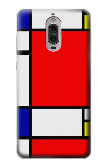 Printed Composition Red Blue Yellow Huawei Ascend P6 Case
