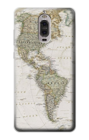 Printed World Map Huawei Ascend P6 Case
