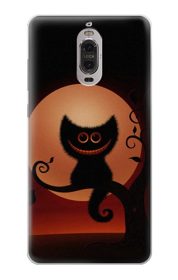 Printed Halloween Cat Huawei Ascend P6 Case