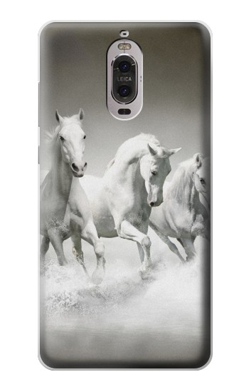 Printed White Horses Huawei Ascend P6 Case