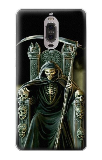 Printed Grim Reaper Skeleton King Huawei Ascend P6 Case