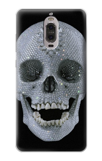 Printed Diamond Skull Huawei Ascend P6 Case