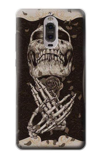 Printed Skull Rose Huawei Ascend P6 Case