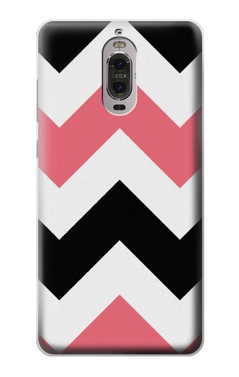 Printed Pink Black Chevron Zigzag Huawei Ascend P6 Case