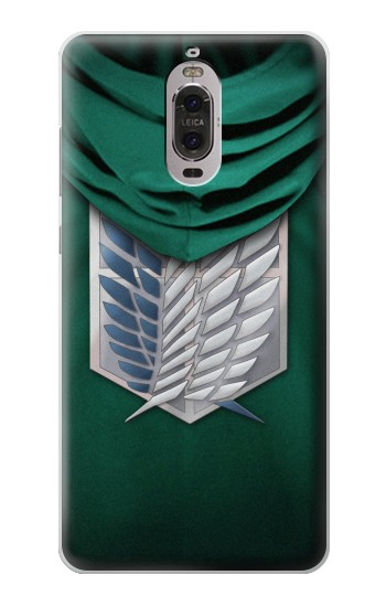 Printed Attack on Titan Scouting Legion Rivaille Green Cloak Huawei Ascend P6 Case