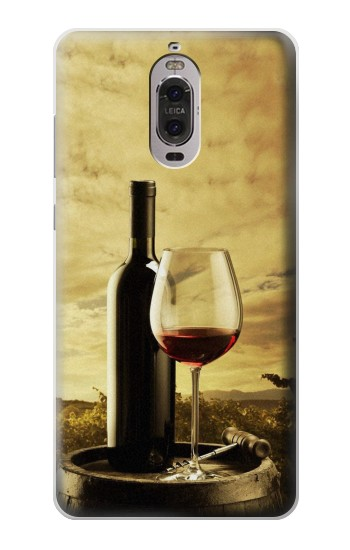 Printed A Grape Vineyard Grapes Bottle and Glass of Red Wine Huawei Ascend P6 Case