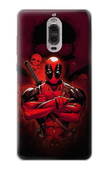 Printed Deadpool Skull Huawei Ascend P6 Case