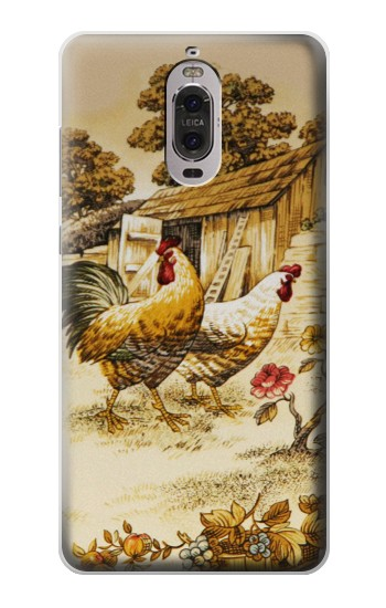 Printed French Country Chicken Huawei Ascend P6 Case