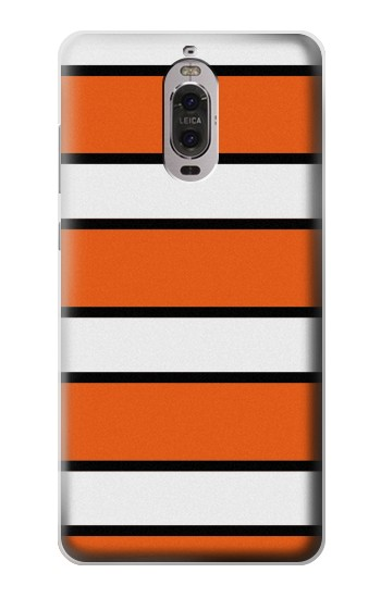 Printed Nemo Fish Clownfish Orange Black and White Striped Pattern Huawei Ascend P6 Case