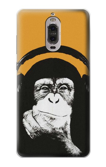 Printed Funny Monkey with Headphone Pop Music Huawei Ascend P6 Case