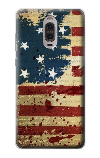 Printed Old American Flag Huawei Ascend P6 Case