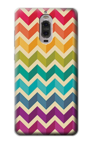 Printed Rainbow Colorful Shavron Zig Zag Pattern Huawei Ascend P6 Case