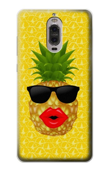 Printed Pineapple Black Sunglasses Huawei Ascend P6 Case