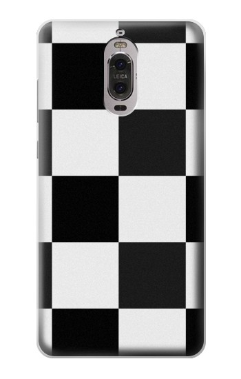 Printed Black and White Checkerboard Huawei Ascend P6 Case