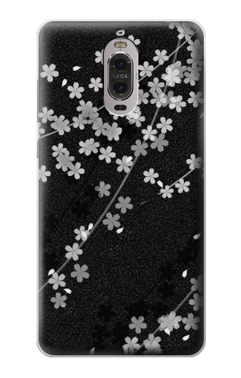 Printed Japanese Style Black Flower Pattern Huawei Ascend P6 Case