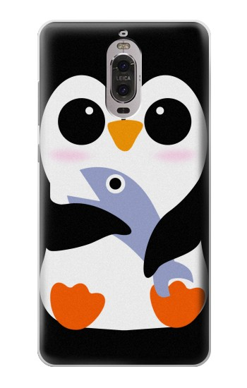 Printed Cute Baby Penguin Huawei Ascend P6 Case