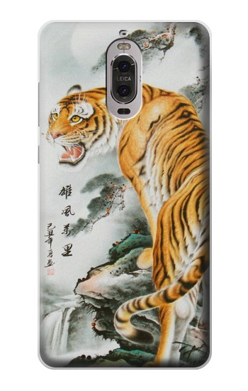 Printed Chinese Tiger Painting Tattoo Huawei Ascend P6 Case